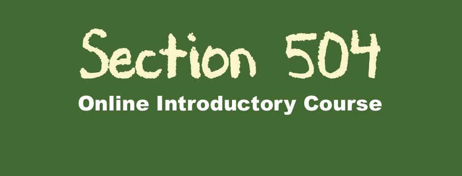 Section 504 Online Course